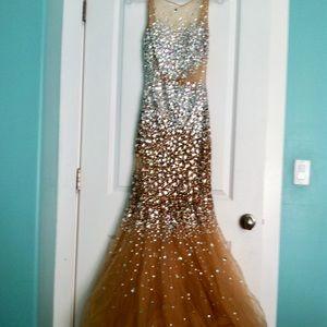 Gorgeous Blush Prom Dress by Alexia,  Size 4